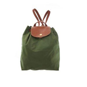 LONGCHAMP Olive Green Nylon Backpack